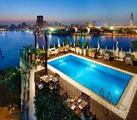 Kempinski Nile Hotel - Nile View from the Pool